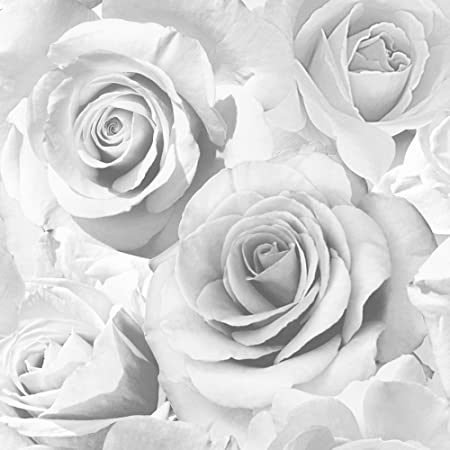 Grey rose wallpaper