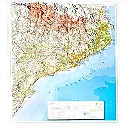 Mapa en relieve de Cataluña: Escala 1:800.000: Amazon.es ...