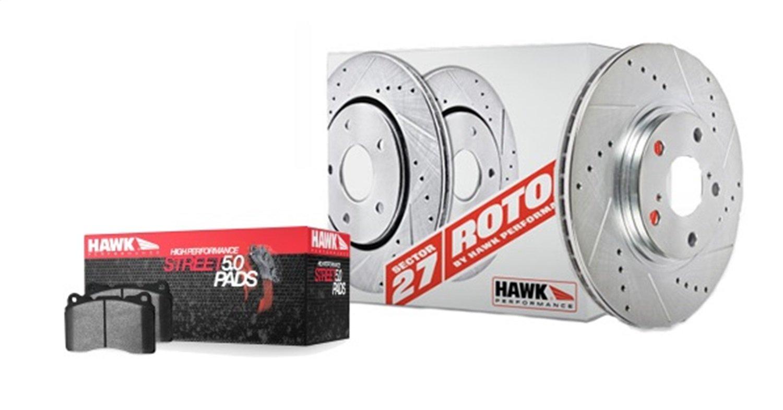 Hawk Performance (HK4937.370B) Sector 27 Rotor/Pad Kit by Hawk