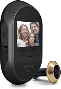Brinno Front Door Peephole Security Camera SHC500 – Theft Proof Design – Superior Battery Life – No Motion Detection – No Smartphone Necessary - Quick, Easy Installation
