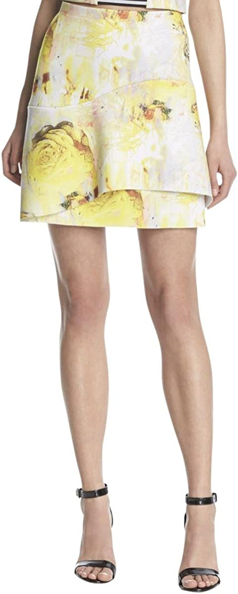 Kiind Of Tiered Printed Skirt XS Yellow Womens Wear
