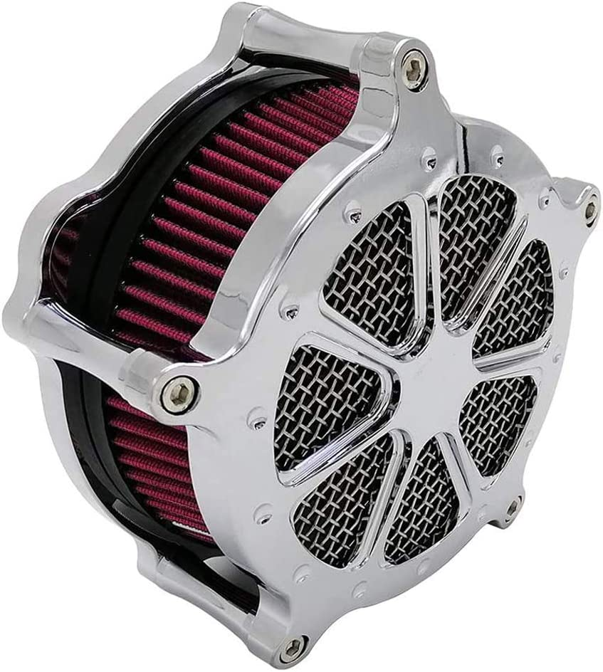 B Luftfilter Motorrad Air Cleaner Intake Turbine Filter Cnc Cut Kit Black f/ür Harley Dyna 2000-2017 Softail 2000-2015 Touring 2000-2007 Einbau Rot