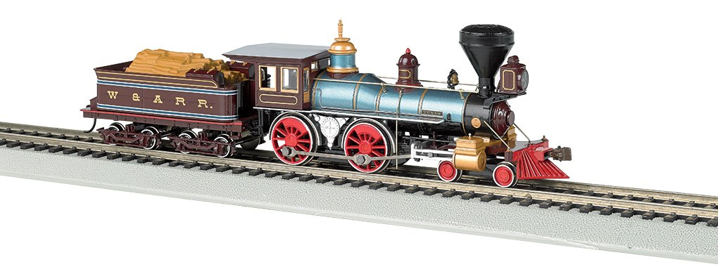 Bachmann Industries 4-4-0 American Steam DCC Ready W&ARR ''Texas'' with Wood Load Locomotive (HO Scale)