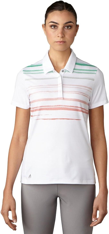 adidas Golf Mujer Tradicional Frambuesa Polo de Rayas Camiseta ...