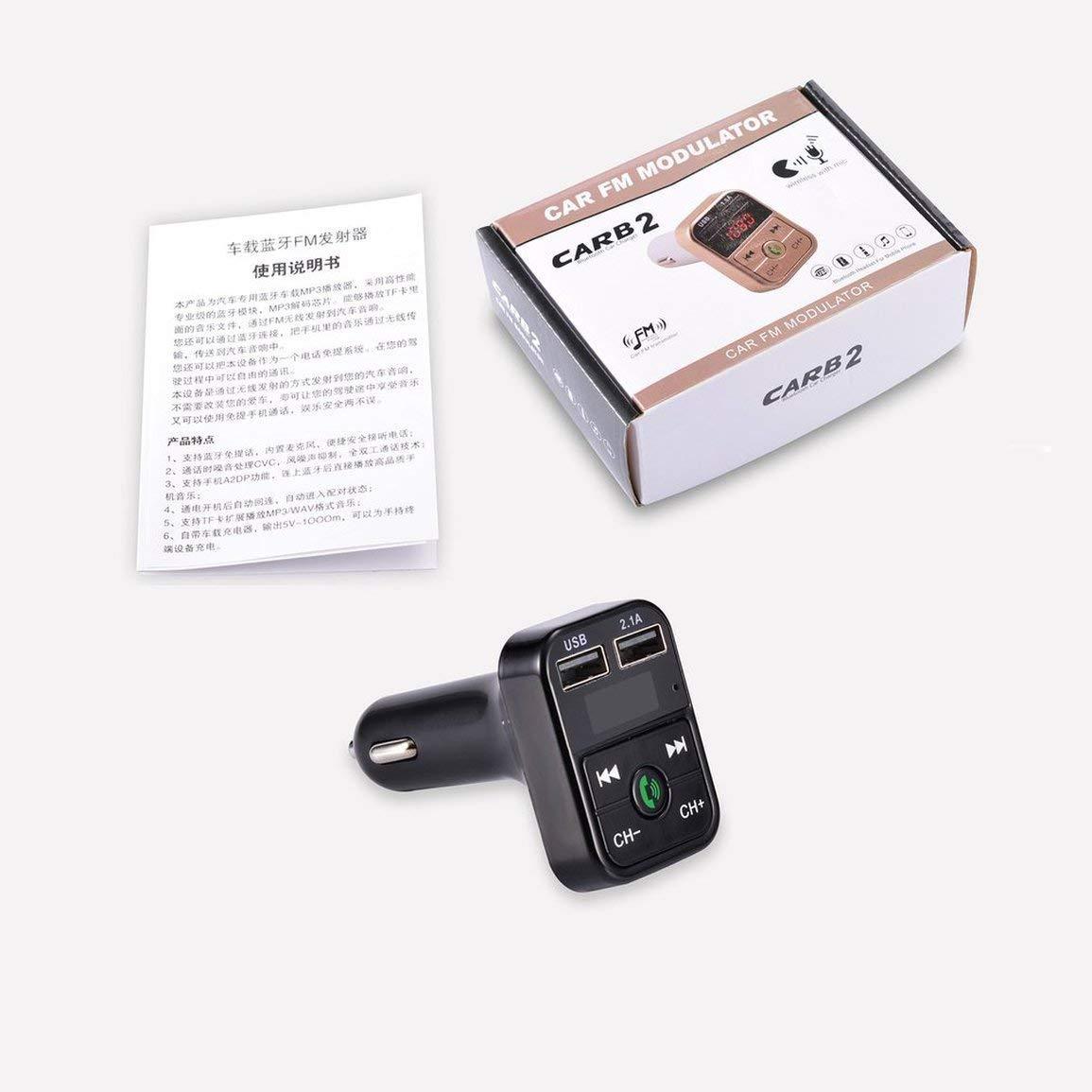 B2 USB Kit Voiture sans Fil Bluetooth Mains-Libres Appel Adaptateur Radio Transmetteur FM Lecteur MP3 Chargeur de Soutien TF Carte U-Disque