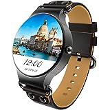 MTK6580 8G ROM+512MB RAM 3G WIFI Smartwatch Sportuhr Telefon All-in-One Bluetooth Smart Watch Uhr Intelligente Armbanduhr Fitness Trackermit GPS,Kamera, Pulsmesser, Google Maps, Google Spiel Kompatibel mit Android 5.1 Smartphone