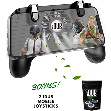 iDub Mobile Gaming Controller - Game Phone Grip with Joystick, Power Bank  Charger, Cooling Fan - Android, iPhone Gamer Accessories - Finger Triggers