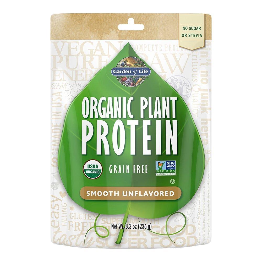 Garden of Life Organic Protein Powder - Vegan Plant-Based Protein Powder, Sugar Free, Unflavored, Unflavored, 8.3oz (236g) Powder by Garden of Life