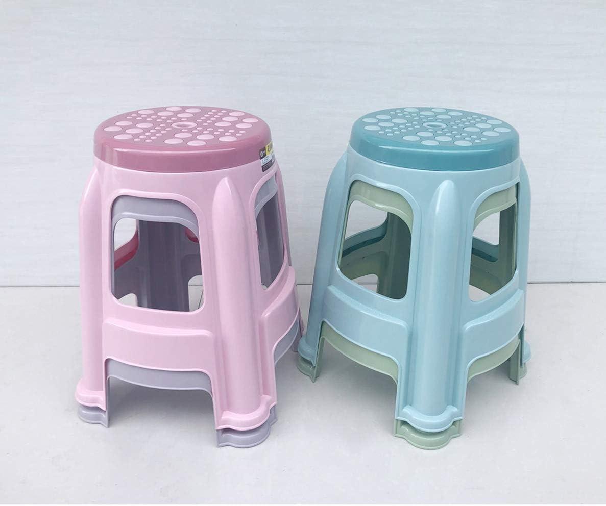 ideal f/ür Familien Maximale Nutzlast 100 kg,Blau YLCCC Kunststoffhocker aus Polypropylen-PP-Material,Sitzhocker Rund Kinder rutschfest