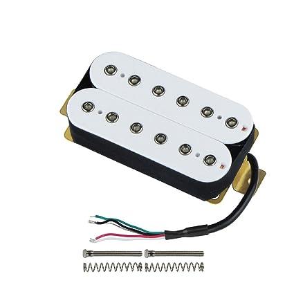 FLEOR Bridge Pickup Double Coil Humbucker Pickups for Electric Guitar  Pickup-White