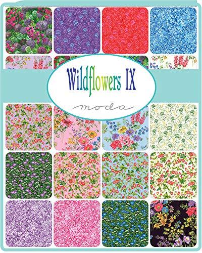 Moda Wildflowers IX Fat Quarter Bundle 23pc Precut Cotton Fabric Quilting Assortment 33380AB