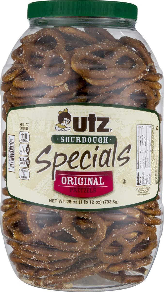 Utz Quality Foods Pretzel Barrels (Original Sourdough Special 28 oz., 1 Barrel)