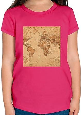 World map print t shirt per ragazze 1012 yrs amazon world map print t shirt per ragazze 1012 yrs gumiabroncs Gallery