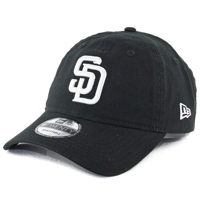 1d5d8047 Amazon.com : New Era 9Twenty San Diego SD Padres Strapback Hat  (Black/White) Dad Polo Cap : Clothing