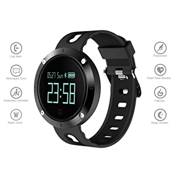 dreamerd Fitness Tracker, Monitor de presión arterial reloj inteligente impermeable pulsera de actividad Tracker podómetro