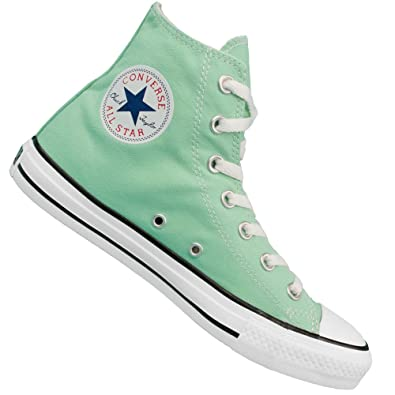 dc01bae833e Converse All Star Hi Top Canvas Trainers - Mint Green 7 UK  Amazon ...