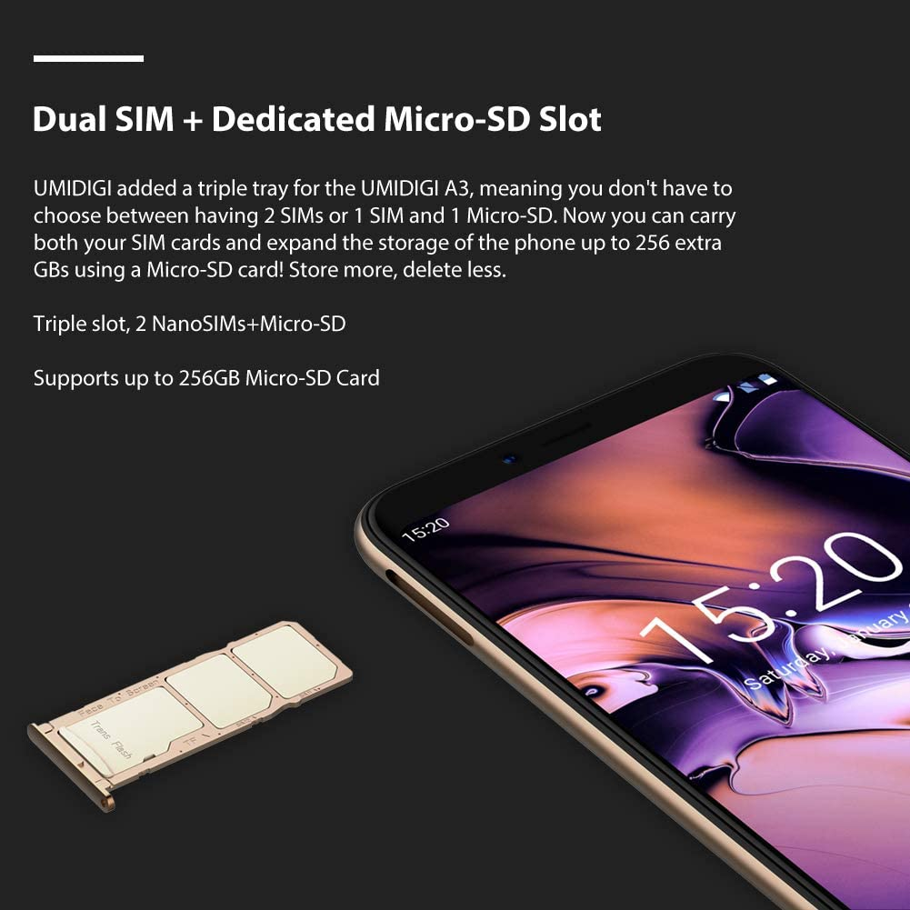 umidigi A3 Global Edition Android 8.1 Face ID Smartphone, Triple ...