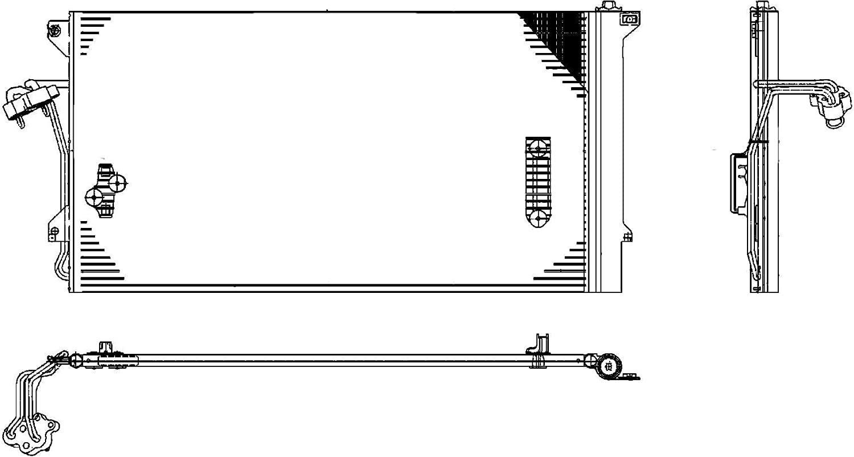 aire acondicionado para aire acondicionado Hella 8fc 351 317-464 Condensador