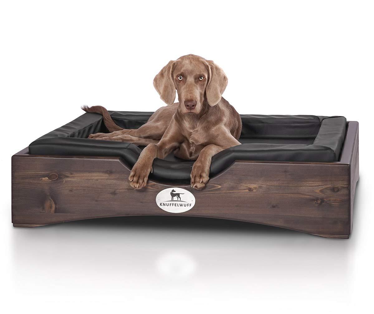 L-XL 90 x 90cm Knuffelwuff 14094-001 Wooden Dog Bed Landon
