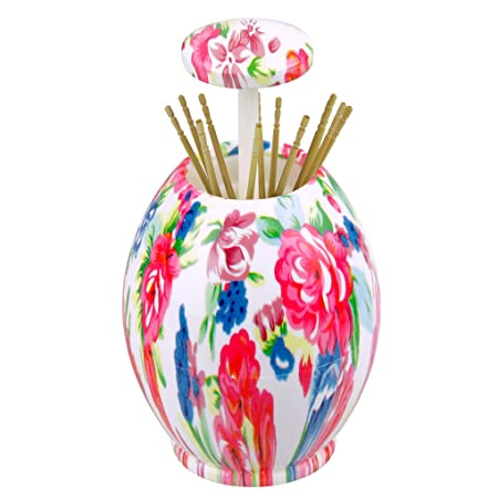 bao core floral butterfly plastic automatic pop up toothpick holder