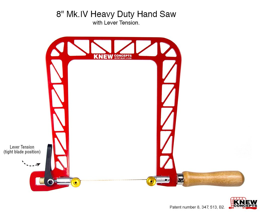 Knew Concepts 8'' Mk.IV Heavy Duty Hand Saw with Lever Tension