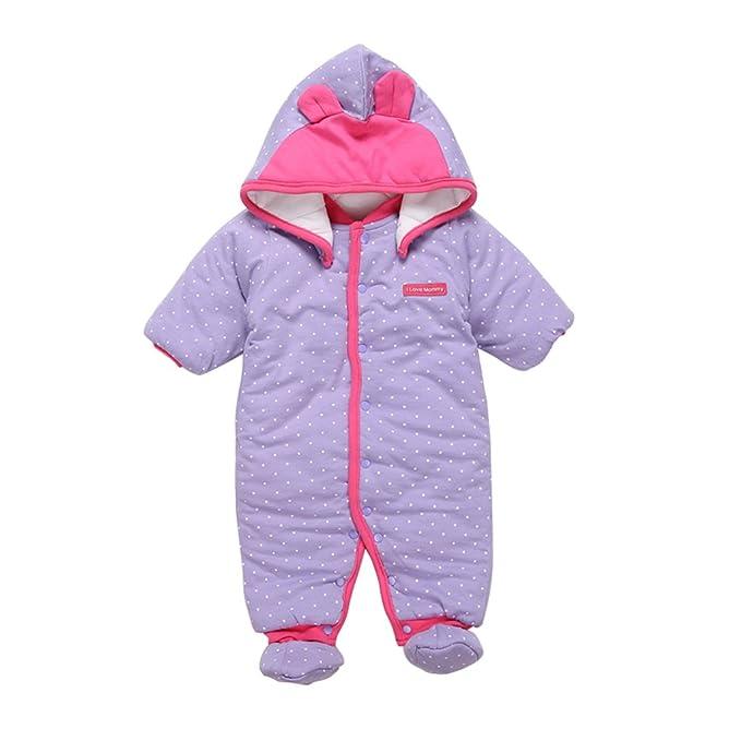 3ccc84be6efc Baby Girls Romper Newborn Snowsuit Infant Fall Winter Thicken ...