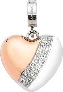 Jewels by Leonardo DARLIN'S Damen-Anhänger Maia, Edelstahl IP roségold und silberfarben, Clip & Mix System, Größe (B/H/T): 18/28/8 mm, 016856