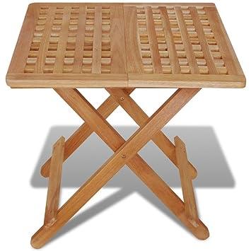 festnight table de jardin en bois pliante table dappoint 50 x 50 x 49 - Table De Jardin En Bois