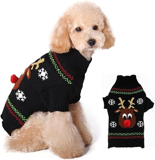 Jersey para perro o gato. Ropa de invierno, con diseño de reno.: Amazon.es: Productos para mascotas
