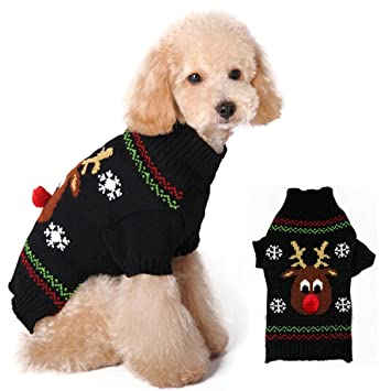 Valink Pet Puppy Small Dog Clothes Costume Xmas Christmas Sweater XS//S//M//L