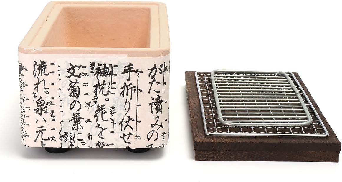 Faway BBQ Holzkohlegrill 4 in 1 Japanische koreanische Keramik Hibachi BBQ Tischgrill Yakitori-Grill Holzkohle-Kocher