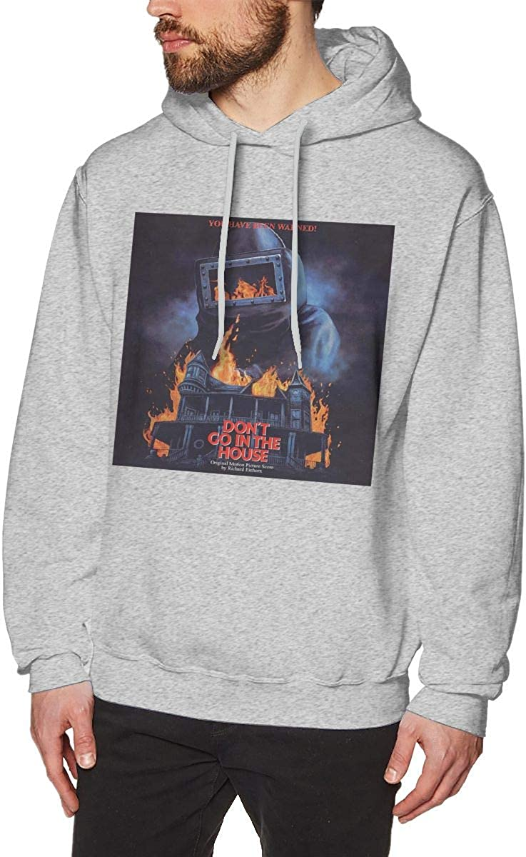 Dont Go in The House Cool Mens Hat and Pocketless Sweater Gray L