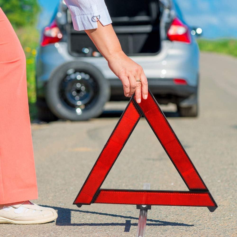 CHUER Triangolo Triangolo di Sicurezza Riflettore Triplo Attenzione Hazard Segnale Stradale Triangolo Simbolo di Emergenza Accessori Auto