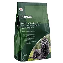 Marque Amazon - Solimo - Croquettes complètes pour chien adulte riche en agneau et riz, 2 Packs de 5kg