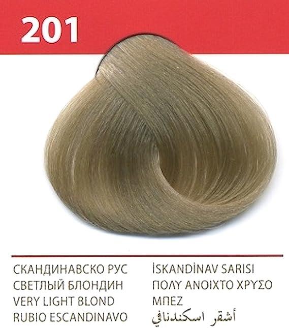 Vips prestige crema colorante para el cabello, color rubio escandinavo 201