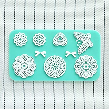 Soledi®1 x Molde de Repostería DIY Moldes de Silicona Patrón de Encaje Flor Arco de lazos para Decoración de Pasteles Azúcar Fondant: Amazon.es: Hogar