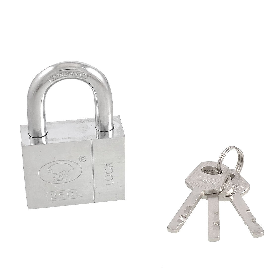 uxcell Home Door Gate 50mm Silver Tone Security Lock Padlock w 3 Keys