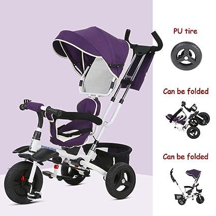 Brilliant firm Triciclo plegable para niños 1-3 años Dirección del asiento Bebé Pedal Bicicleta