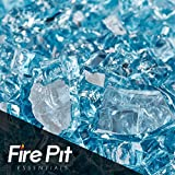 Cheap Pacific Blue Fire Glass 1/4″ Firepit Glass Premium 10 Pounds Great for Fire Pit Fireglass or Fireplace Glass