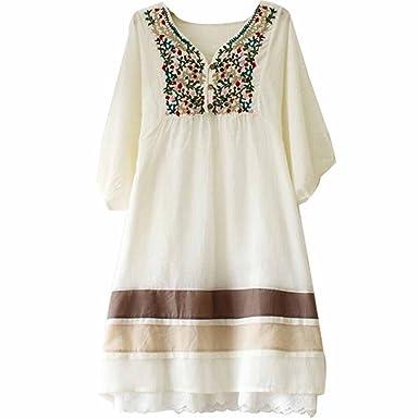 Kafeimali - Blusa de algodón con Bordado Mexicano para Mujer ...