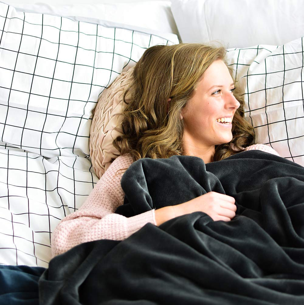 Extra Cozy Reversible Blanket Super Soft Twin Color- Mood Indigo Machine Washable All the Feels You Buy One-We Give One All The Feels Co.