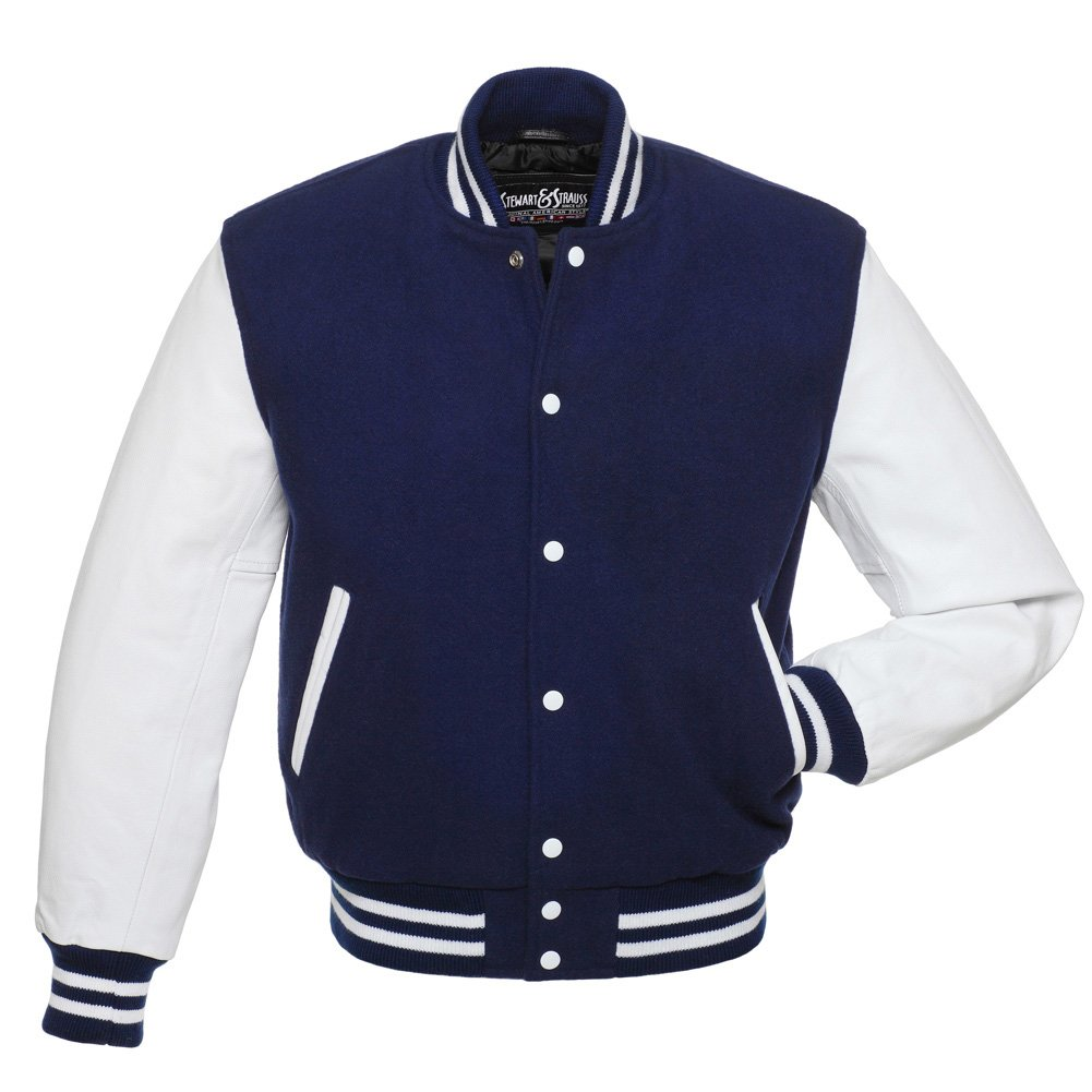 097568c6cd6 Stewart   Strauss Letterman Jacket (37 Team Colors) - Varsity Jacket Wool    Leather