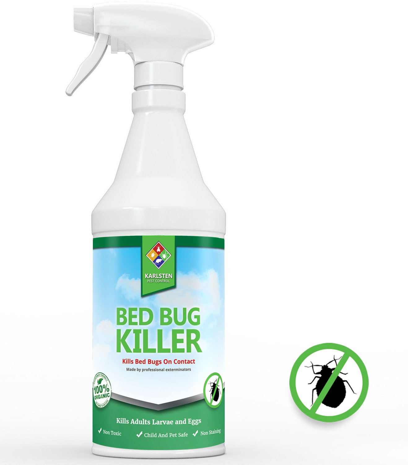 Karlsten Bed Bug Killer Pest Control Bugs Spray Mosquito Repellent Circuitbest Repellentindoor Powerful Natural Organic Treatment Kills Eliminates And Prevents Bedbugs 16 Oz Garden