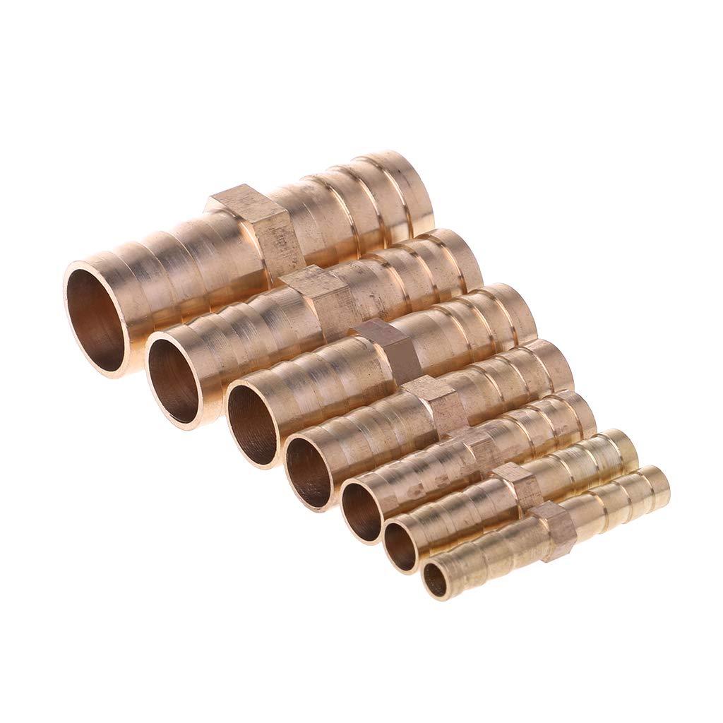 Manyo Connecteur de Tuyau de Carburant 6mm Connecteur Barbel/é Adaptateur de Tuyau Joint de Jointure de Tuyau de Menuisier en Laiton Connecteur Droit Convient pour Gaz Carburant Eau