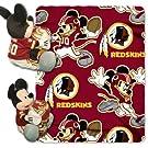 NFL Washington Redskins Mickey Mouse Pillow with Fleece Throw Blanket Set