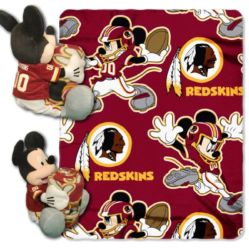 The Northwest Company Officially Licensed NFL Washington Redskins Co Disney's Mickey Hugger and Fleece Throw Blanket Set ()