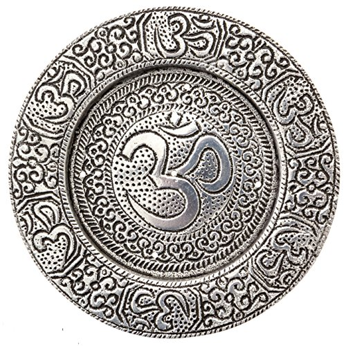 (Om Incense Burner Plate for Meditation, Yoga, Aromatherapy, Home Fragrance)
