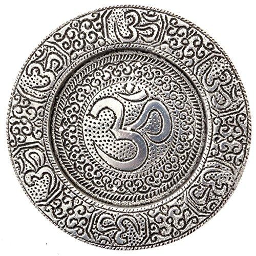 Plate Incense Burner - Om Incense Burner Plate for Meditation, Yoga, Aromatherapy, Home Fragrance