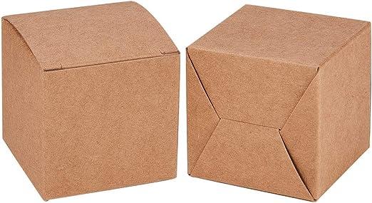 BENECREAT 60 Pack Caja de Papel Kraft Envase Marrón de Regalo ...