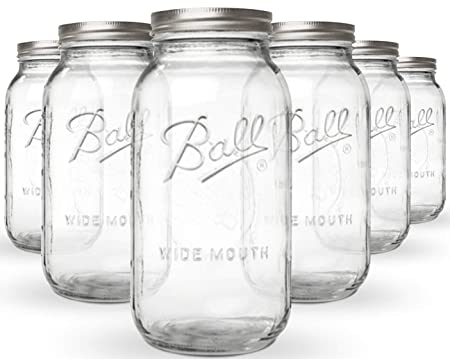 Koro Measurements Ball Mason Jar Wide Mouth Set Of 6 Measurements